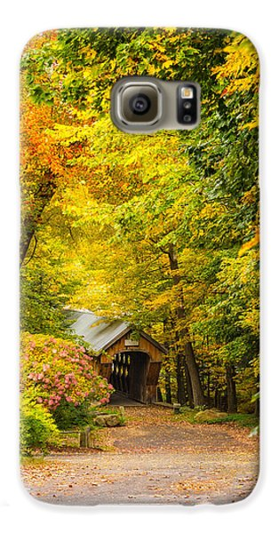 Tannery Hill Covered Bridge Galaxy S6 Case