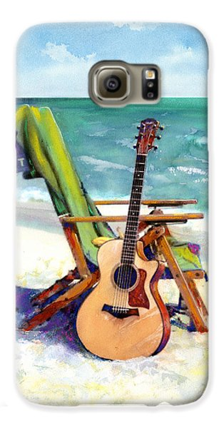 Guitar Galaxy S6 Case - Taylor At The Beach by Andrew King