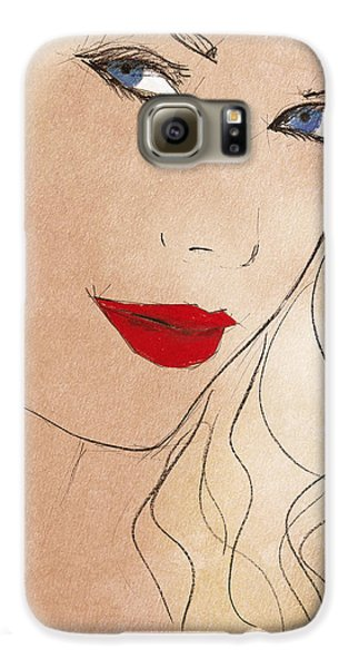 Taylor Red Lips Galaxy S6 Case by Pablo Franchi