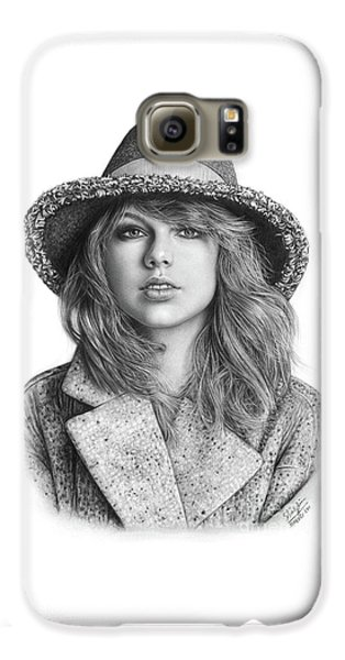 Taylor Swift Portrait Drawing Galaxy S6 Case by Shierly Lin