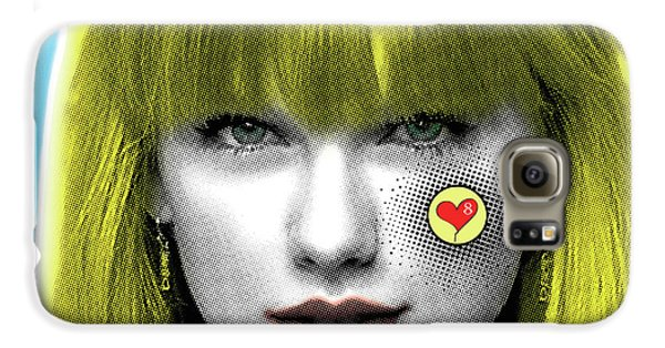 Taylor Swift, Pop Art, Portrait, Contemporary Art On Canvas, Famous Celebrities Galaxy S6 Case by Dr Eight Love