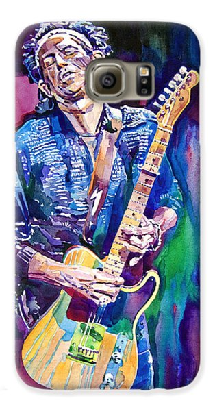 Guitar Galaxy S6 Case - Telecaster- Keith Richards by David Lloyd Glover