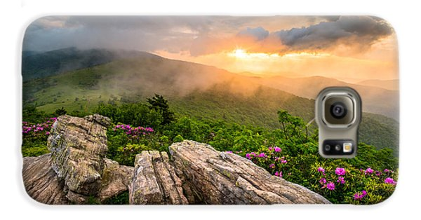 Mountain Sunset Galaxy S6 Case - Tennessee Appalachian Mountains Sunset Scenic Landscape Photography by Dave Allen