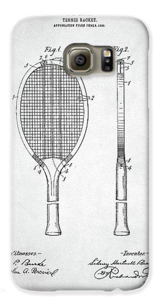 Tennis Racket Patent 1907 Galaxy S6 Case by Taylan Apukovska