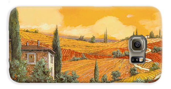 Sunflower Galaxy S6 Case - terra di Siena by Guido Borelli