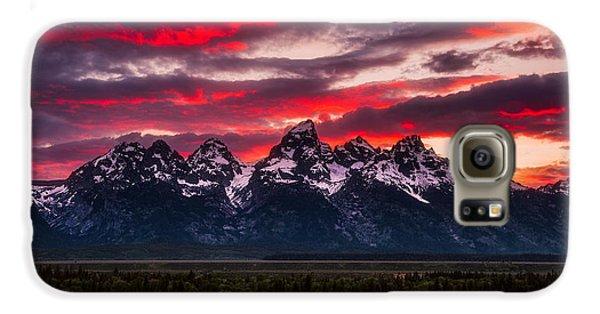 Mountain Sunset Galaxy S6 Case - Teton Sunset by Darren White