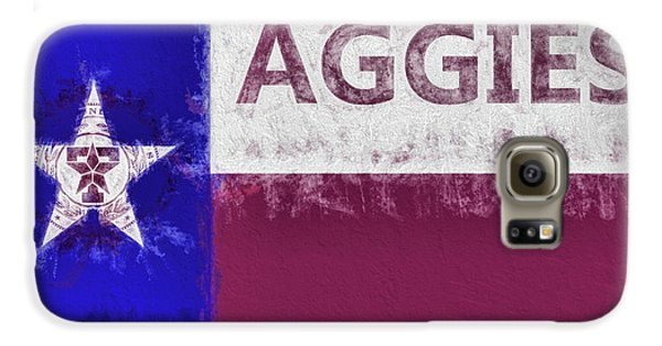 Galaxy S6 Case featuring the digital art Texas Aggies State Flag by JC Findley
