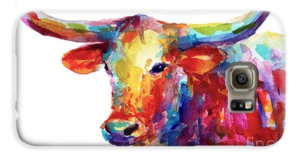 Texas Longhorn Art Galaxy S6 Case by Svetlana Novikova