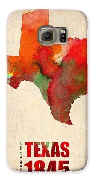 Texas Watercolor Map Galaxy S6 Case