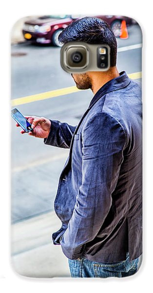 Man Texting Galaxy S6 Case
