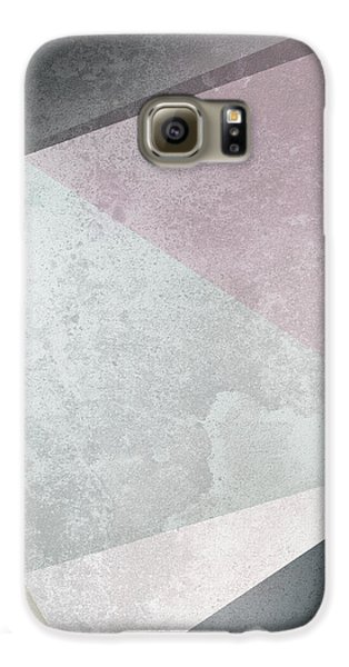 Rose Galaxy S6 Case - Textured Geometric Triangles by Pati Photography