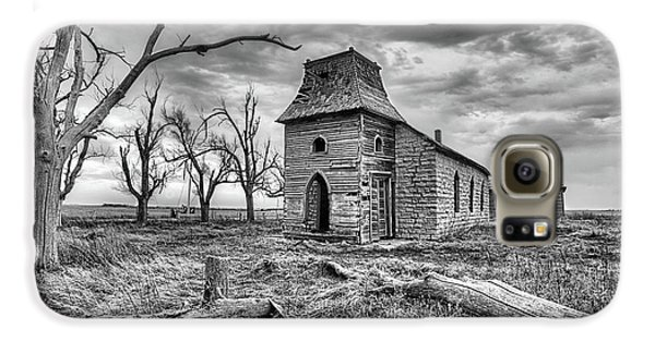 Galaxy S6 Case featuring the photograph That Old Time Religion Black And White by JC Findley