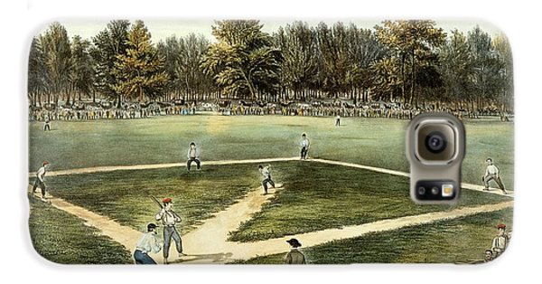 The American National Game Of Baseball Grand Match At Elysian Fields Galaxy S6 Case