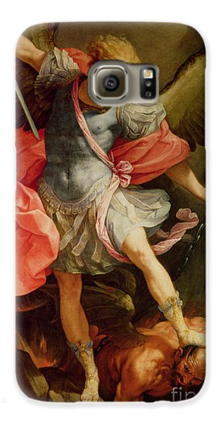 The Archangel Michael Defeating Satan Galaxy S6 Case