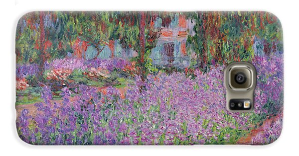 Impressionism Galaxy S6 Case - The Artists Garden At Giverny by Claude Monet