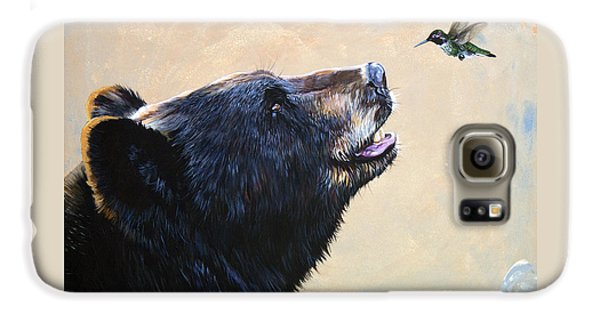 Mammals Galaxy S6 Case - The Bear And The Hummingbird by J W Baker