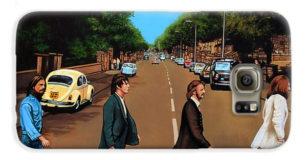 The Beatles Abbey Road Galaxy S6 Case by Paul Meijering