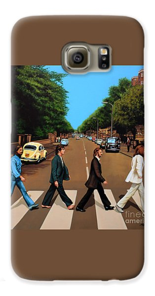 Rock And Roll Galaxy S6 Case - The Beatles Abbey Road by Paul Meijering