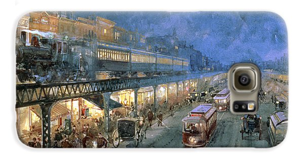 Train Galaxy S6 Case - The Bowery At Night by William Sonntag