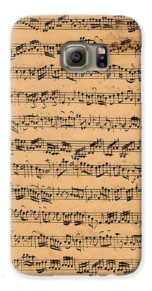 The Brandenburger Concertos Galaxy S6 Case by Johann Sebastian Bach