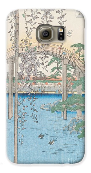 The Bridge With Wisteria Galaxy S6 Case by Hiroshige