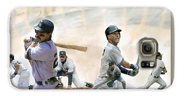 The Captains II Don Mattingly And Derek Jeter Galaxy S6 Case by Iconic Images Art Gallery David Pucciarelli