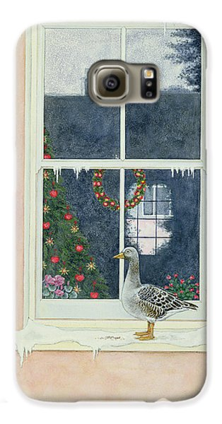 The Christmas Goose  Galaxy S6 Case by Ditz