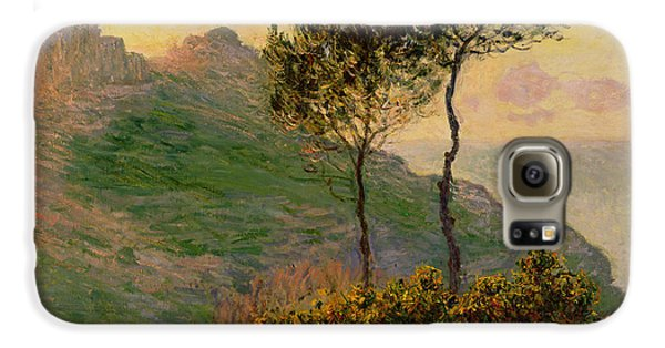 The Church At Varengeville Against The Sunlight Galaxy S6 Case by Claude Monet