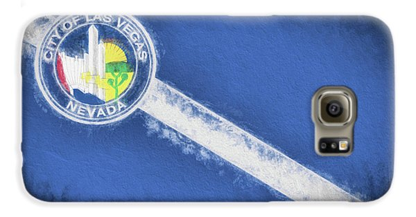 Galaxy S6 Case featuring the digital art The City Flag Of Las Vegas by JC Findley