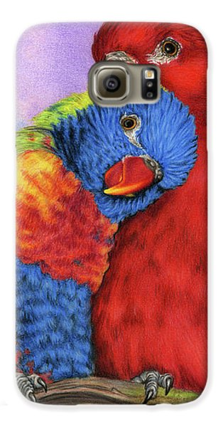 Lovebird Galaxy S6 Case - The Color Of Love by Sarah Batalka