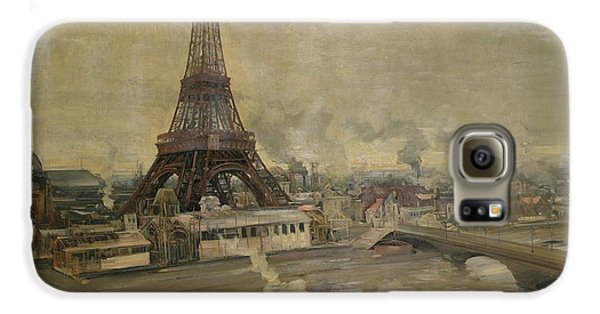 The Construction Of The Eiffel Tower Galaxy S6 Case