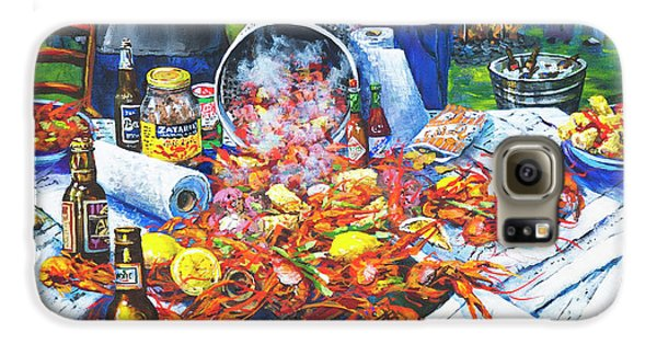 Food And Beverage Galaxy S6 Case - The Crawfish Boil by Dianne Parks