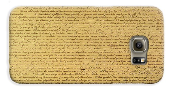 The Declaration Of Independence Galaxy S6 Case