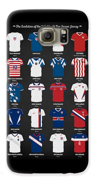 Landon Donovan Galaxy S6 Case - The Evolution Of The Us World Cup Soccer Jersey by Taylan Apukovska