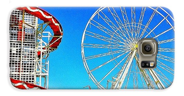 Blue Galaxy S6 Case - The Fair On Blacheath by Samuel Gunnell