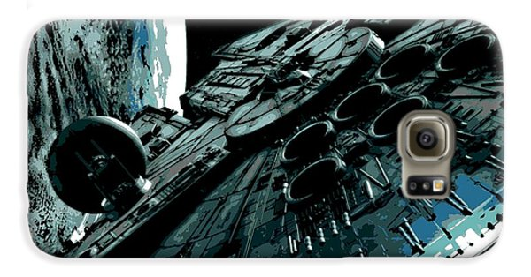 Space Ships Galaxy S6 Case - the Falcon by George Pedro