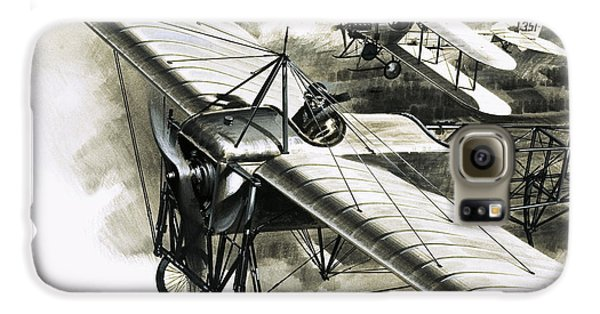 The First Reconnaissance Flight By The Rfc Galaxy S6 Case by Wilf Hardy