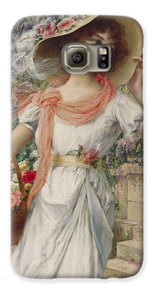 Garden Galaxy S6 Case - The Flower Girl by Emile Vernon