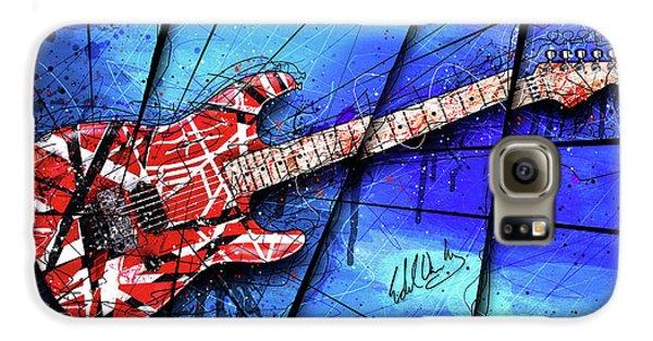 Van Halen Galaxy S6 Case - The Frankenstrat On Blue I by Gary Bodnar