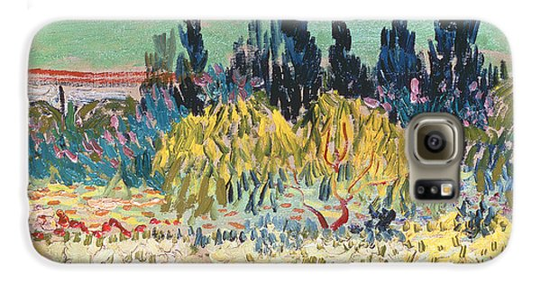 Garden Galaxy S6 Case - The Garden At Arles  by Vincent Van Gogh