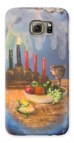 Galaxy S6 Case featuring the painting The Gift by Saundra Johnson