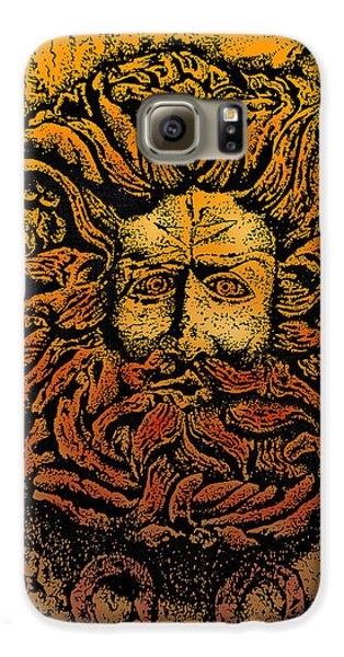 The Gorgon Man Celtic Snake Head Galaxy S6 Case by Larry Butterworth