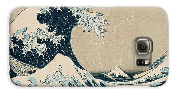Boat Galaxy S6 Case - The Great Wave Of Kanagawa by Hokusai