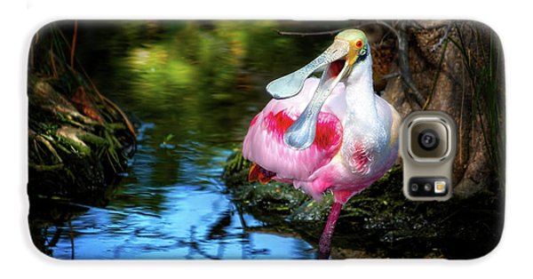 The Happy Spoonbill Galaxy S6 Case