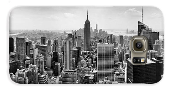 The White House Galaxy S6 Case - New York City Skyline Bw by Az Jackson