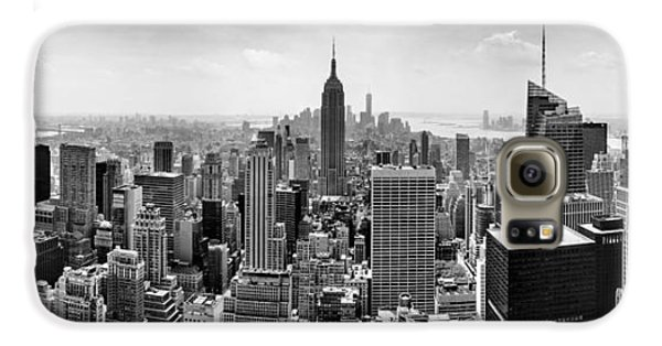 New York City Skyline Bw Galaxy S6 Case by Az Jackson