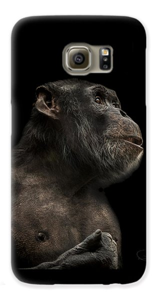 Ape Galaxy S6 Case - The Hitchhiker by Paul Neville