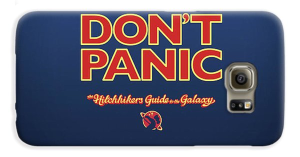 Design Galaxy S6 Case - The Hitchhiker's Guide To The Galaxy by Super Lovely