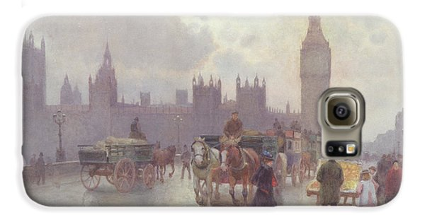 The Houses Of Parliament From Westminster Bridge Galaxy S6 Case by Alberto Pisa