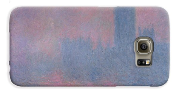 London Galaxy S6 Case - The Houses Of Parliament London by Claude Monet
